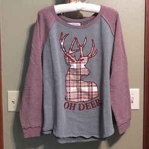 Maurices Oh Deer Embroidered Sweatshirt Plus size